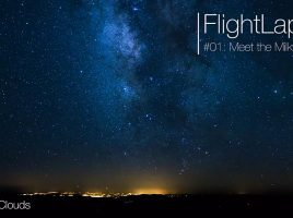 Flightlapse, Timelapse, Airplane, Milky Way